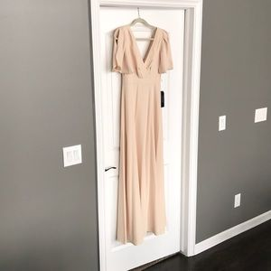 JCREW Wedding Collection Champagne Long Dress